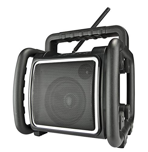 PerfectPro Bouwradio - Teambox - Met Bluetooth, DAB+ en FM Radio - Werkradio met USB- en AUX ingang - Regen-, Vuil- en Stofbestendig - Ingebouwde Accu - Te Gebruiken Als Bluetooth Speaker