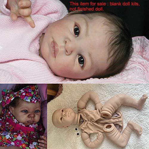 ZSooner Reborn Baby Dolls, 22 pulgadas realista de silicona Reborn Doll Kits DIY niñas regalo Set