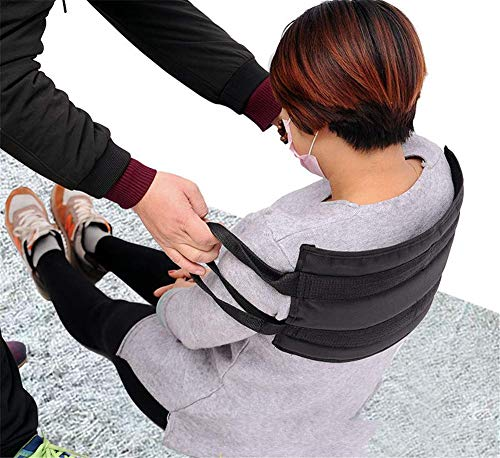 GHzzY Cintura da deambulazione - Cintura di trasferimento per Trasferire Il paziente da Sedia a rotelle a Letto, Vasca da Bagno, Toilette e Auto - Cintura di Sicurezza per la Mobilità,80CM