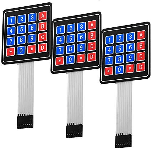 AZDelivery 3 x Matrix Array 4x4 Keypad tastierino tastiera compatibile con Arduino con eBook