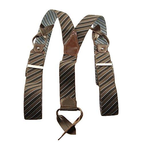 Esprit Bretelles rayures noir et marron à boutons