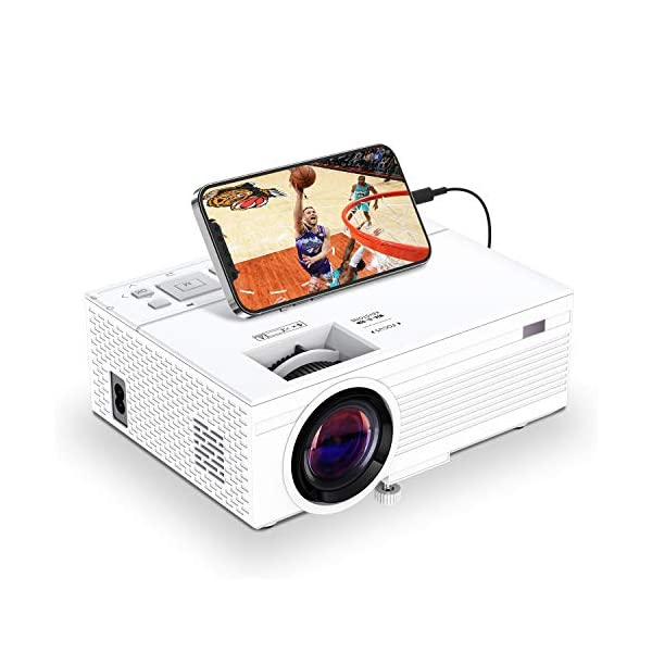 TOWOND Mini Portable Projector for Movies, Home Theater Video Projector with 6500Lux,...