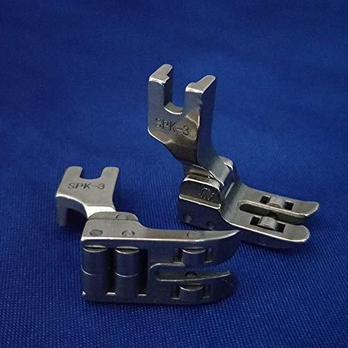 Multifunción 2 PCS Pie de Rodillo Pie Foot Pie SPK-3 Snap-On High Shank Costura de Cuero Accesorios for Cantante for la máquina de Coser Industrial de JUKI para Coser (Color : A)