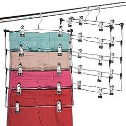 3 silver multiple skirt hangers