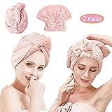 Asciugamano per Capelli Asciutti, Foulard, 2 Nuovi tipi Cuffia per Asciugacapelli, e Asciu...