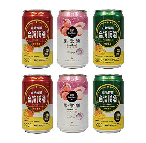 台湾ビール マンゴー・ライチ・パイナップル 缶 ビール 330ml(6本セット)