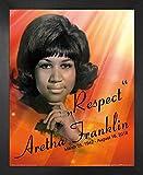 1art1 Aretha Franklin Poster Kunstdruck und MDF-Rahmen -