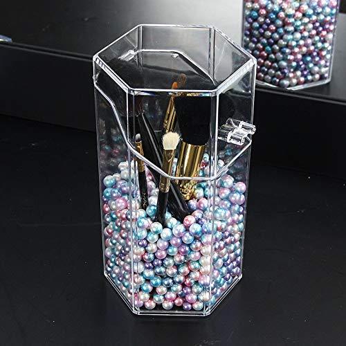 Neue durchsichtige Make-up-Bürstenhalter aus Kunststoff Staubdichte Aufbewahrungsbox Make-up Organizer Sortiment Maquillage Holder Lippenstift Organizer Case