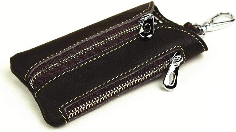 Girls Purse Lady Purse Key Bag Zipper Multifunction Retro PU Leather Change Car Key Chain
