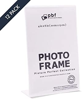 Pack of 4 x6 Acrylic Picture Frames, Sign Holders 4x6 Vertical (12)