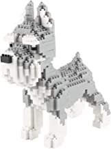 Larcele Mini Dog Building Blocks Pet Building Toy Bricks,950 Pieces KLJM-02 (Schnauzer)