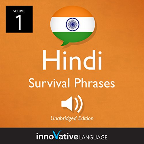 Learn Hindi: Hindi Survival Phrases, Volume 1 cover art