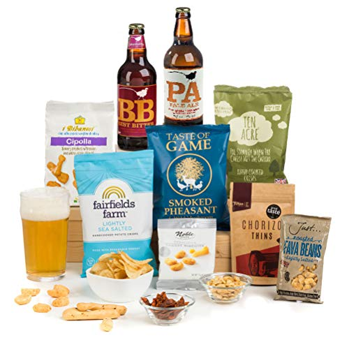 Craft Beer & Bar Snacks Hamper Gift Box - Gifts Idea for Men Who Have Everything