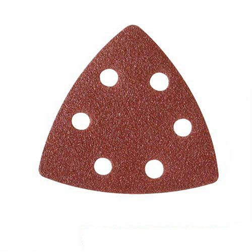 Silverline 826718 - Hojas de lija triangulares autoadherentes 90 mm, 10 pzas (Grano 120)