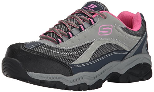 Skechers for Work Women's Doyline Hiker Boot, Gray Pink, 7 M US