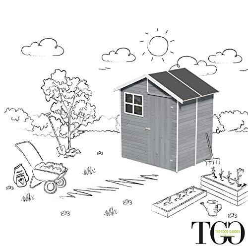 Gartenhaus mit Fußboden aus aus Holz mit Tür und...