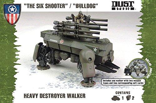 Dust Tactics Model - The Six Shooter Bulldog - Heavy destroyer - DT076 - New