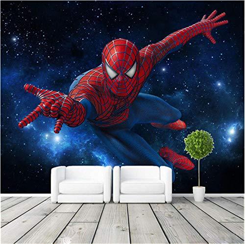 Papier Peint Personnalisé Murale Spider Man Photo Papier Peint Papier Peint En Soie Grand Mur Art Décor De Salle De Plafond Chambre Kid'S Room 250X175Cm