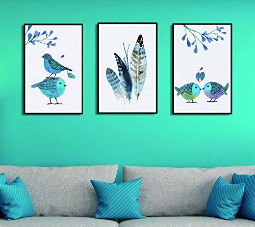 Schilderij Schilderijen Op Canvas Zitstokken Vogel Frameloze Decoratief Schilderen Sofa Achtergrond Muurschildering Triple Canvas Muurschildering