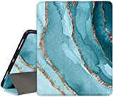 RicHyun iPad Pro 11 Case 2020 & 2018 with Pencil Holder - Smart Trifold Stand Soft TPU Back Protective Cover, Blue Golden Marble - [Auto Wake/Sleep + Support Apple Pencil Charging]