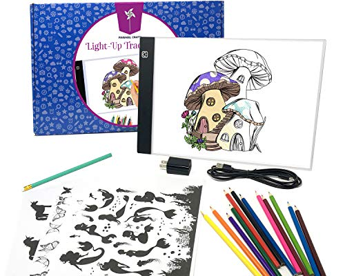 Product Image of the Pinwheel Crafts Light Up Tracing Pad for Kids, Provides Ultra Bright LED Light...