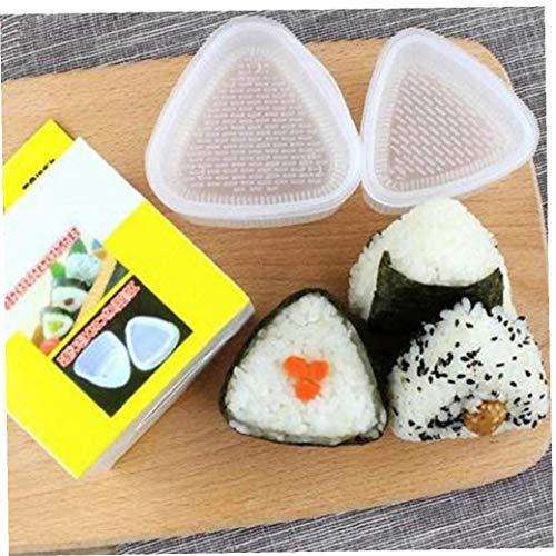 Aisoway 2st Sushi Mold Rice Ball Mold Küchenhelfer Stuff Transparent Bento Zubehör