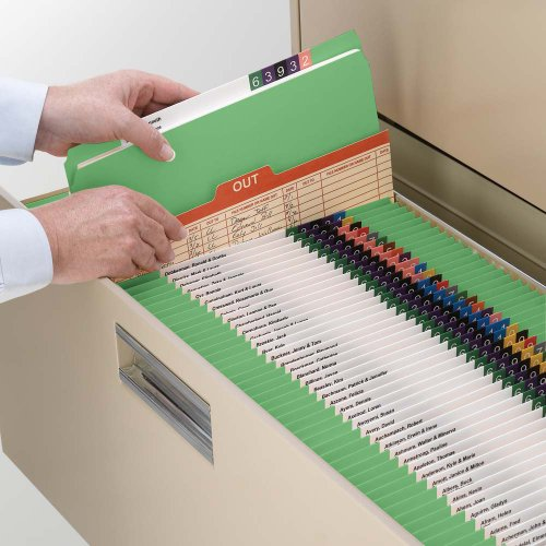 Smead File Folder, Reinforced Straight-Cut Tab, Letter Size, Green, 100 per Box (12110) Photo #6