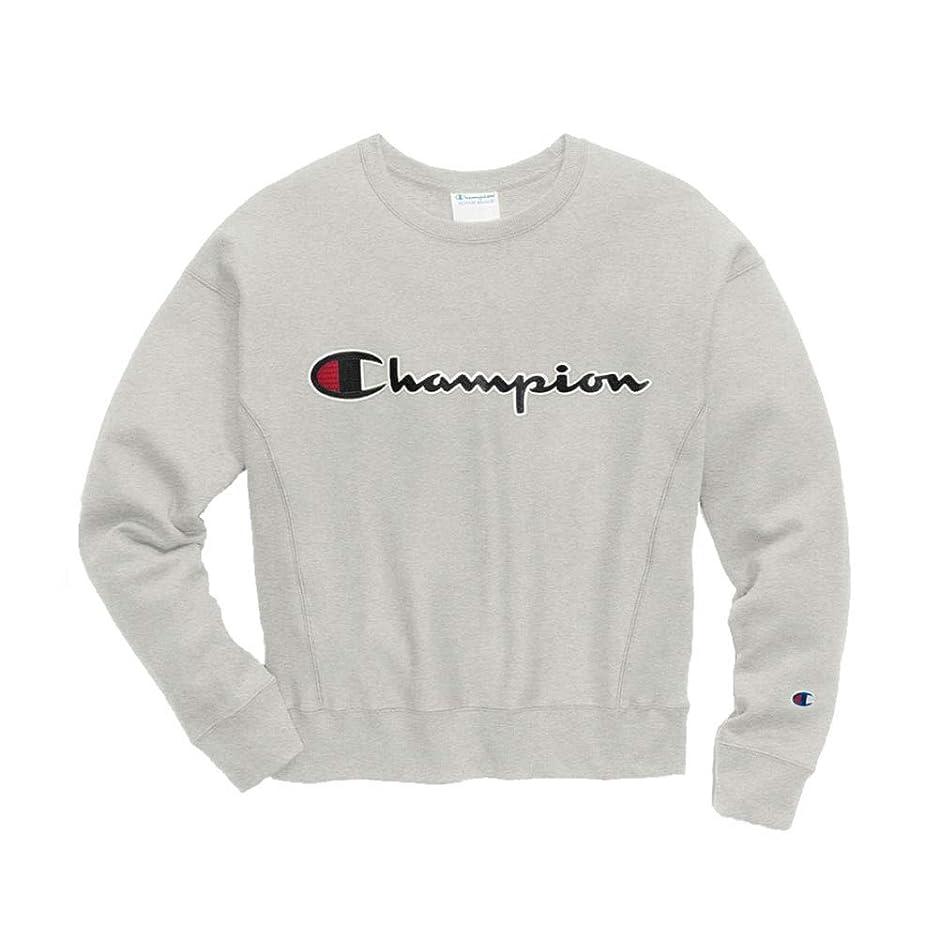 セージ放課後シャー(チャンピオン) Champion Women's Reverse Weave Crew Chain Stitch Logo レディース トップス プルオーバー スウェット トレーナー クルーネック 長袖 裏起毛 [並行輸入品]