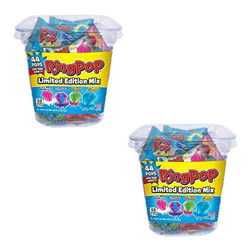 Ring Pop Hard Candy Pops, Variety Pack 40 Count 2 Pack