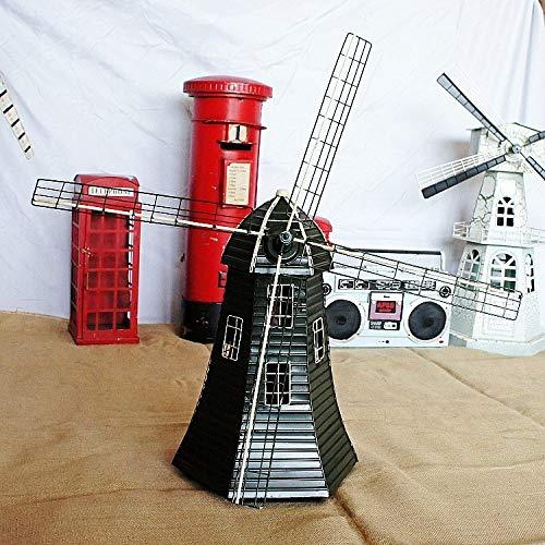 DIAOSUJIA Vintage tin molen model handgemaakt modern huis woonkamer keuken slaapkamer bureau plank kunst sieraden decoratie kerst geschenken