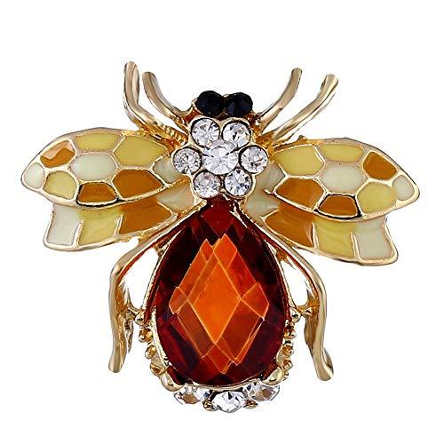 Lanhan Animal Insect bee Brooch Dress School Bag Backpack Lady Special Sale School Bag Gift 2.2 * 3CM Red Wine