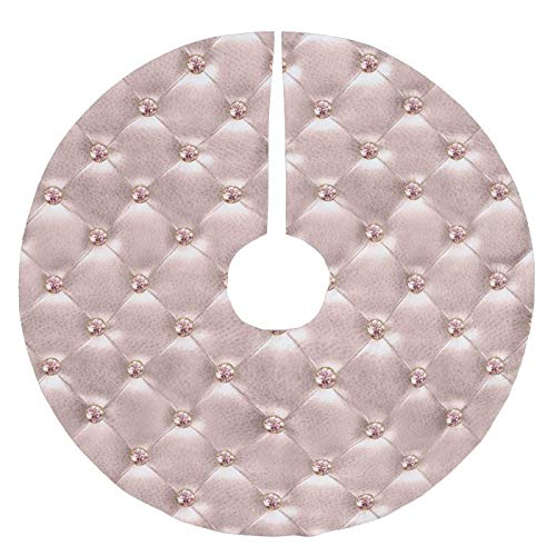 Fhdang Decor Rose Gold Jewel Bling Cushion Stitched Pillow Brushed Polyester Christmas Tree Skirt Christmas Decorations Indoor Outdoor,36 Inches