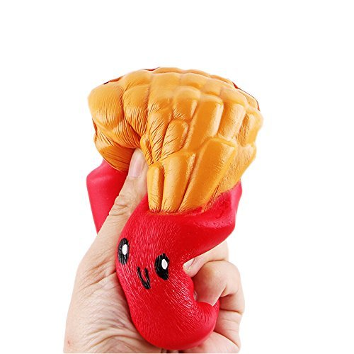 Slow Rising Squishies Jumbo, French Fries Scented Squeeze Stress Relief Toy