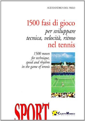 Millecinquecento fasi di gioco per sviluppare tecnica, velocità e ritmo nel tennis