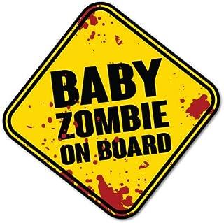 zombie on board sticker
