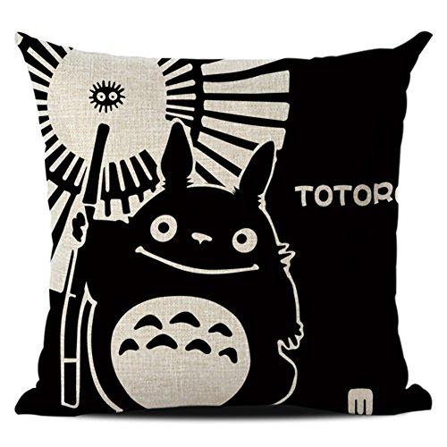 JOTOM Kissenbezug,Kissenbezüge Startseite Kissenbezug Platz Kissenhülle Bett Sofa Decor 45 x 45 cm (Totoro 1)