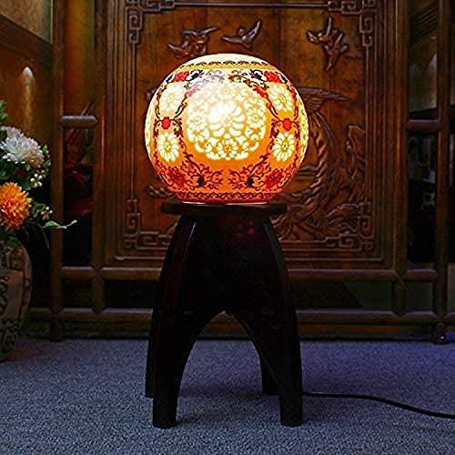 ZJJZ Lámpara de Mesa para Taburete de pie de Escritorio, Luces de Linterna de Paisaje Bohemio Oriental árabe marroquí Turco, Tablero de Fibra de Densidad Media, lámpara de Noche de pie con Cuatro