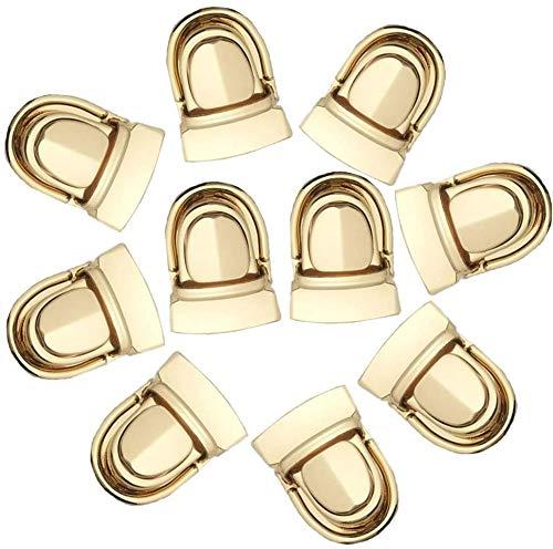 YUSHIWA 10 Stück Taschen Steckschloss Portemonnaie Verschluss Metall Schlösser Kofferverschluss Eisen Geldbörse Push Lock Set Zubehör für Taschenherstellung Mappenschloss für Leder Handtaschen DIY