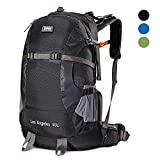 External Frame Hiking Backpack 40L Breathable Waterproof Rain Cover Lightweight
