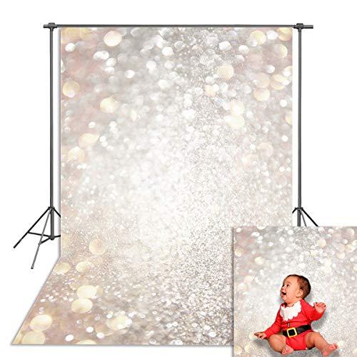 Bokeh Fondo Fotografía Telón de Fondo Blanco Starlight Twinkle Recién Nacido Telones Fiesta Banner Decoración Apoyos