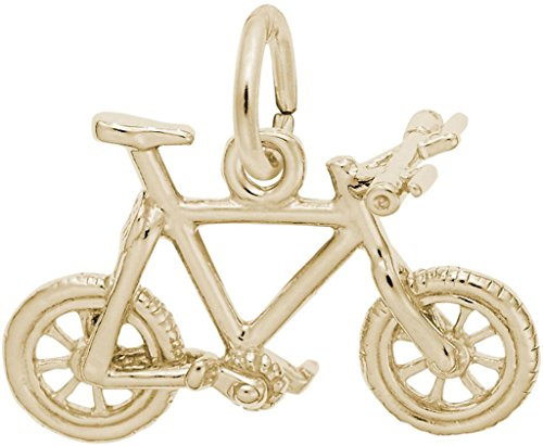 Rembrandt Mountain Bike Charm - Metal - Gold-Plated Sterling Silver