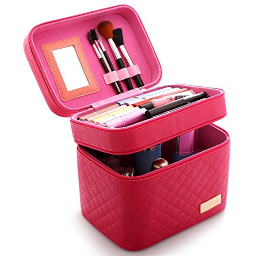 Bathtub Rails Bags & Cases Cosmetic Box high Capacity Cosmetic Bag Multifunctional Bag Portable Storage Box Simple Makeup Box Double Zipper Multicolor 24 17 22 cm