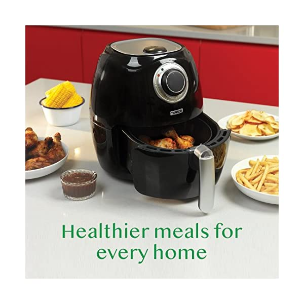 Tower T17005 Health Manual Air Fryer Oven with Rapid Air Circulation and 30 Min Timer, 3.2 Litre, Black