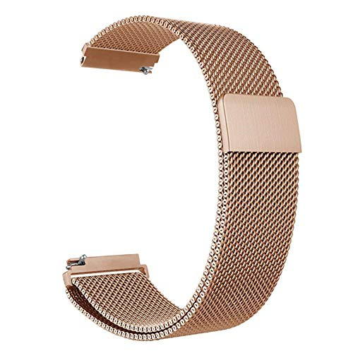 BBLL Correa de Reloj 22mm Correa de Reloj   para Samsung Gear S3 Galaxy Watch 46mm 42mm Active 2 Band 20mm Banda de Acero Inoxidable para Gear S2 Amazfit Active 2 40mm Oro Rosa