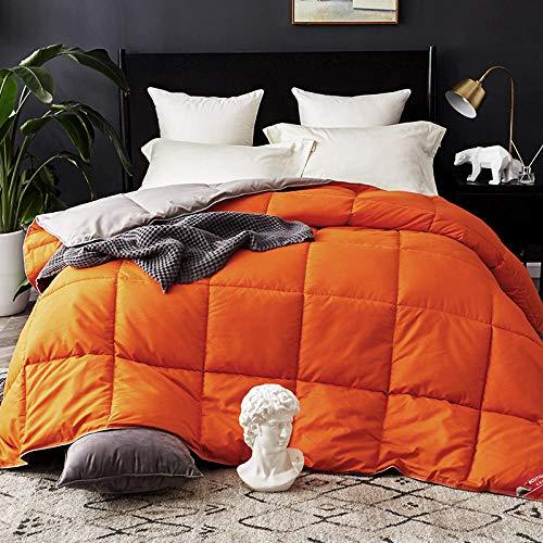 Hahaemall Winter Duvet King Size 100% Cotton Duvet/Quilt Duvet/Soft Luxury Anti-Allergy Breathable/Winter Duvet Quilt-orange_200x230cm-2kg