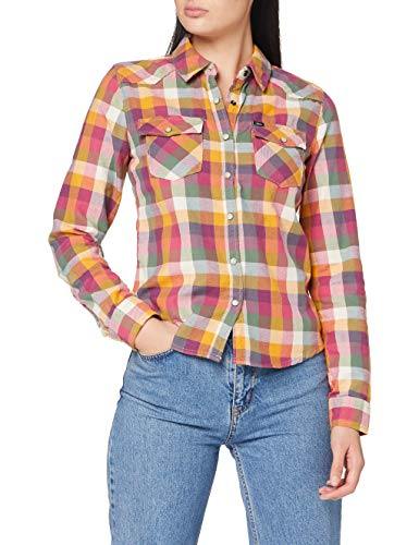 LTB Jeans Damen Lucinda Hemd, Pinky Check Wash, M