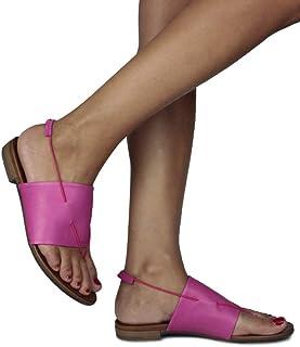 Erkan Kaban 131208 933 Kadın Fuşya Deri Sandalet 45