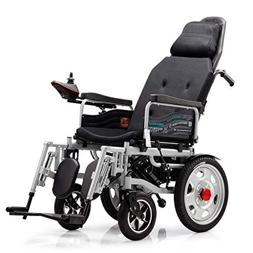 A&DW Faltender Elektrischer Rollstuhl, Leichter Und Langlebigem Rollstuhl, Sicher Und Leicht Zu Fahren, Und Bietet Ihnen EIN Komfortables Fahrerlebnis,Schwarz
