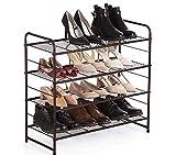 Scarpiera a 4 ripiani organizer per scarpe, per 12-16 paia di scarpe, per soggiorno, guard...