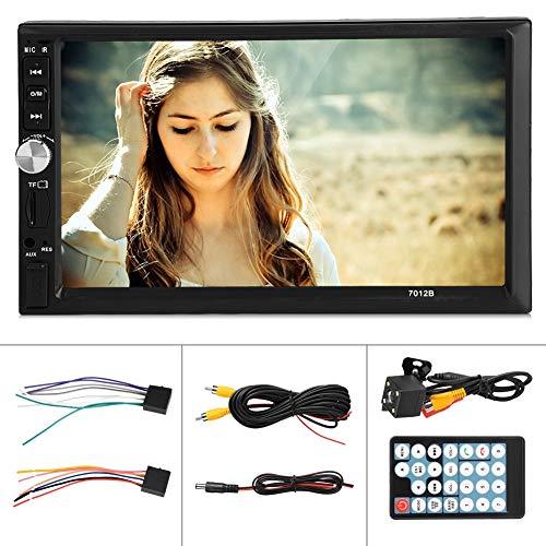 Elerose autoradio-speler, 7 inch autoradio bluetooth-audio-ontvanger HD touchscreen videoplayer omkering van het scherm